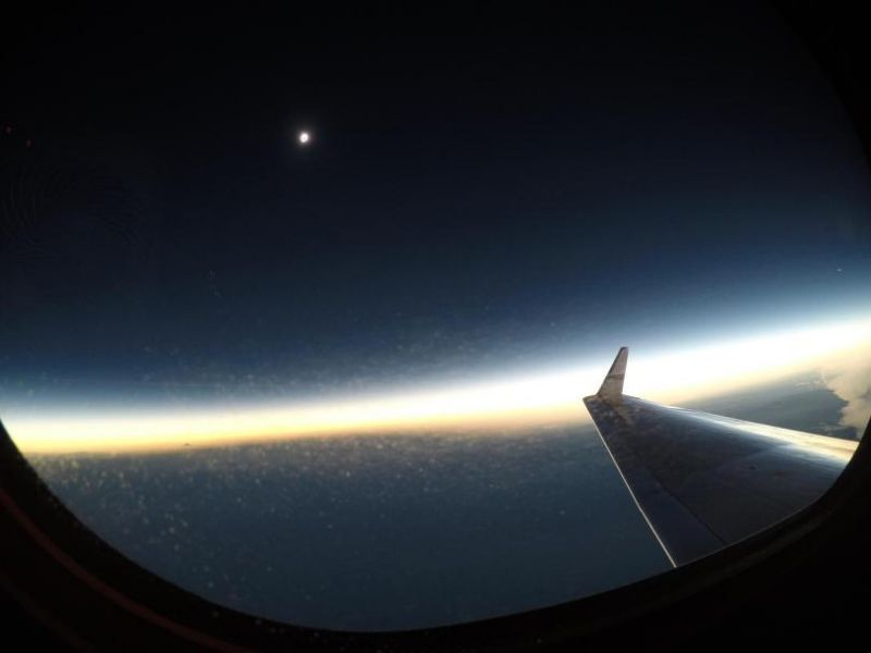 eclipse from plane