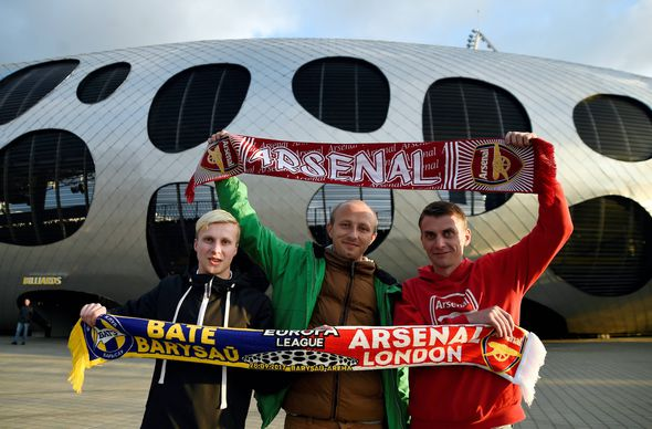 BATE Borisov v Arsenal: Europa League LIVE scores, news and results
