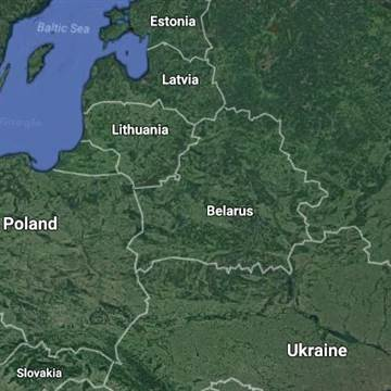 Image: A map of Belarus and the Baltic states