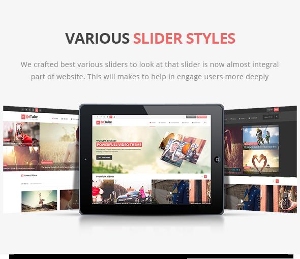 betube video WordPress Theme sliders