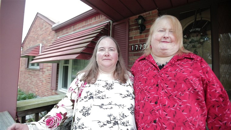 Aimee Stephens and her wife Donna, right.