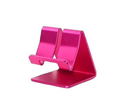 Aluminum Metal Stand Holder Stander For iPad iPhone Mobile Phone Smart Tab Y365 (Hot Pink)