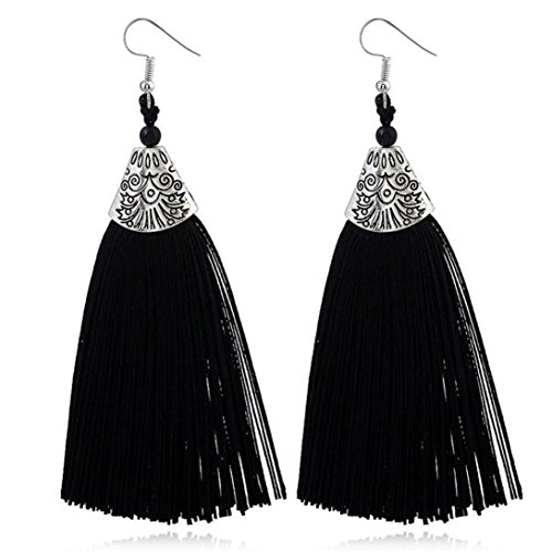 Beuu Jumping Property Prices Women Fashion Rhinestones Wool Tassels Earring Gorgeous Jewelry Retro Jewelry Earring Women'S Fashion Stud Elegant Silver Classics Pearl Dangle Gold Vintage (C)