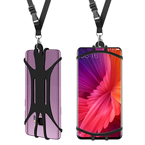 Cell Phone Lanyard Case,Universal Mobile Phone Cover Handsfree Smartphone Holder with Adjustable Neck Strap Soft and comfortable For iPhone X 8 7