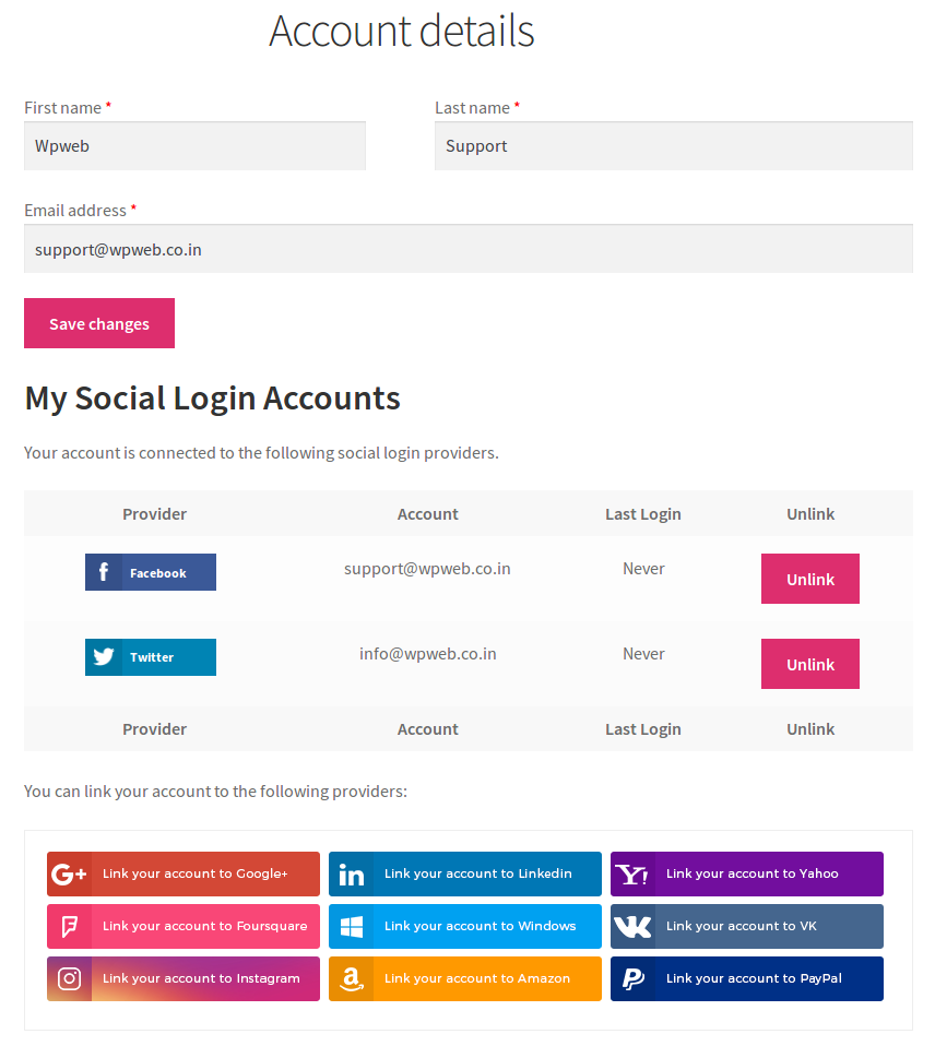 Provide Account Management Tools