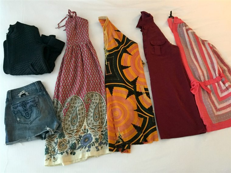 Packing in a color scheme makes it easier to mix and match pieces — cutting down on the amount of clothing you need to bring.