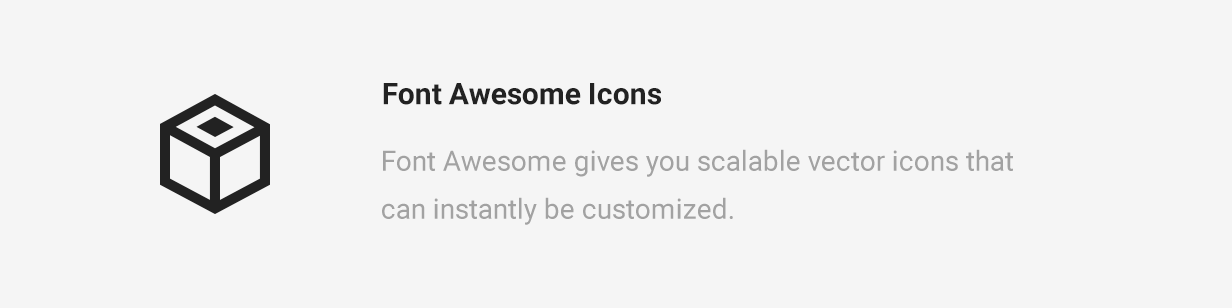 Mae font awesome Icons