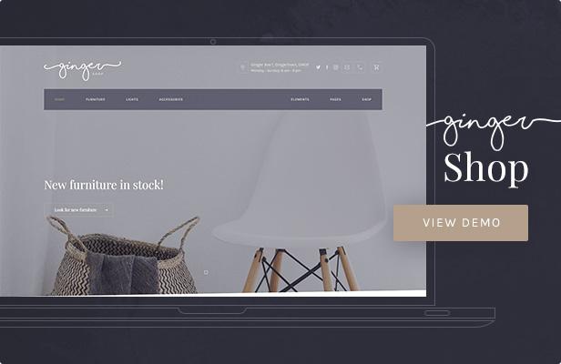 Ginger — Shop WordPress Theme