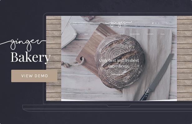 Ginger — Bakery WordPress Theme