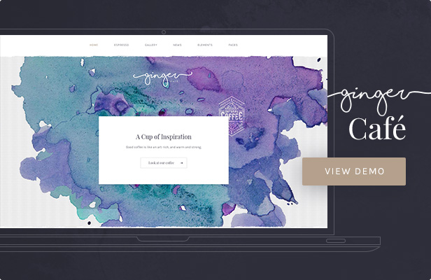 Ginger — Cafe WordPress Theme