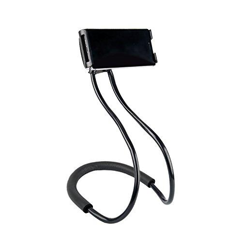 NCElec 011 Neck Cell Desk Bed,Bike and Motorcycle Mount,Universal Lazy Bracket Mobile Phone Stand Holder (Black)