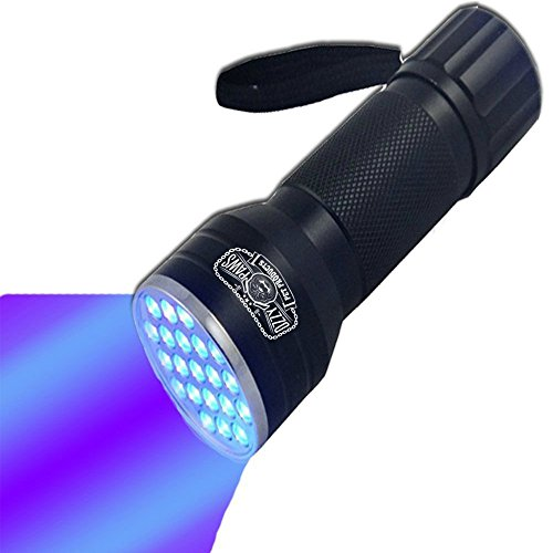 Ozzy Gear UV Flashlight-Brightest Black Light 21-LED Pet Urine Detector-Best at detecting stains from cats/dogs-Perfect for scorpion hunting, hotel inspection, ID cards, detect fridge/freon leaks