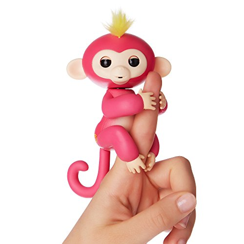 WowWee Fingerlings - Interactive Baby Monkey - Bella (Pink with Yellow Hair)