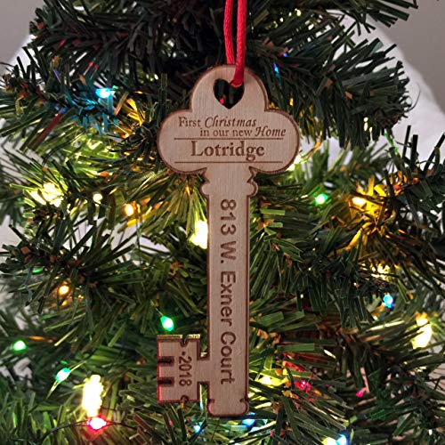 First Christmas in Our New Home Key w/address 2018 - Christmas Ornament