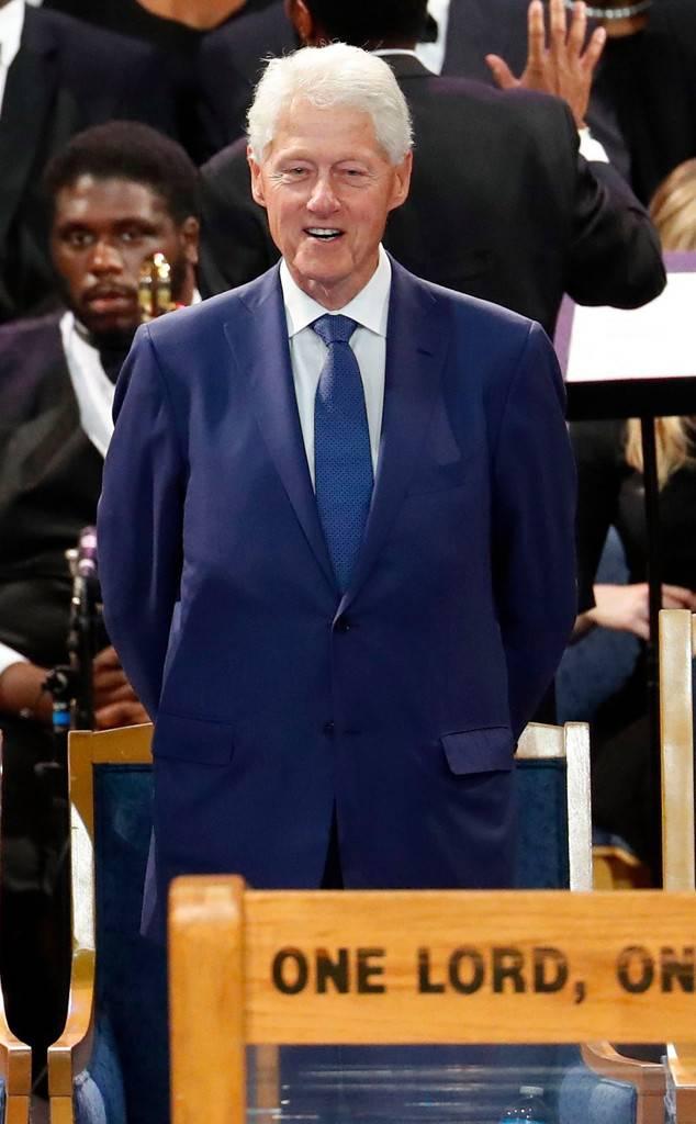 Bill Clinton, Aretha Franklin Funeral