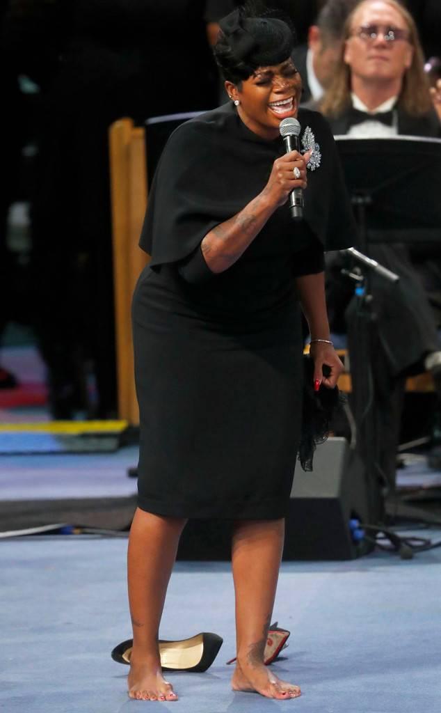 Fantasia Barrino-Taylor, Aretha Franklin Funeral