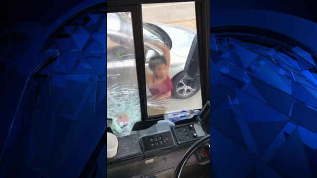 Road Rage: Angry Driver Bashes Bus Window