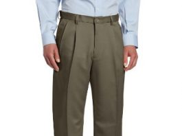 Haggar Men's Cool 18 Heather Solid Pant - Regular - 38W x 32L - Taupe