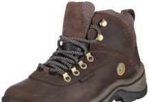 TimberlanD Women's White LeDge MiD Ankle Boot,Dark Brown,9 M US