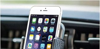 """Bestrix Universal CD Phone Mount Cell Phone Holder for Car fits iPhone X, 8, 7, 6, 6S Plus. 5S, 5C, 5, Samsung Galaxy S5, S6, S7, S8, Edge/Plus Note 4,5,8, LG G4, G5, G6, All Smartphones up to 6"""""""