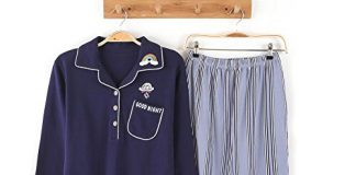 HaloVa Women's Pajamas, Spring Autumn Long Sleeves Casual Sleepwear Loungewear