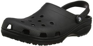 Crocs Unisex Classic Clog, Black, 6 US Men / 8 US Women