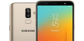 "Samsung Galaxy J8 (32GB) J810M/DS - 6.0"" 18:9 Infintiy Display, 4G LTE Dual SIM Unlocked Phone with Face Unlock, Dual Camera's, Finger Print Sensor (Gold)"