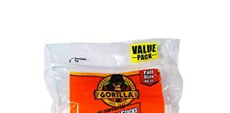 "Gorilla Hot Glue Sticks, Full Size, 4"" Long x .43"" Diameter, 45 Count, Clear, (Pack of 1)"