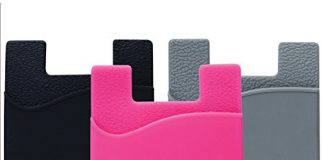 Cell Phone Wallet by Cellessentials: (for Credit Card & Id) | Works with Almost Every Phone | iPhone, Android & Most Smartphones | 3 Pc Pack (Black, Grey & Pink)
