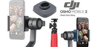 DJI Osmo 2 Mobile Handheld Smartphone Gimbal Stabilizer Videographer Bundle with Case, Flex Tripod, Base and Lens Maintenance Kit