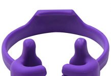 Honsky Thumbs-up Cell Phone Stand Holder, Tablet Stand Cradle for Desk Desktop Smartphone Cellphone Mobile Phone Tablets – Universal Adjustable Flexible, Purple