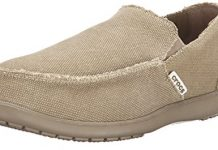 Crocs Men's Santa Cruz Loafer, Khaki Khaki, US 10