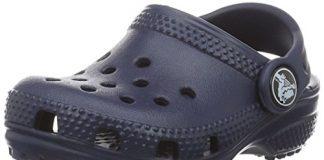 crocs Kids' Classic K Clog, Navy, 9 M US Toddler