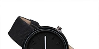 Women Girls Analog Quartz Watches On Sale Clearance Cuekondy Casual Number Canvas Band Dress Business Wrist Watch Bracelet (Black)
