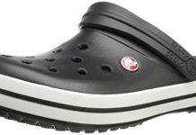 Crocs Unisex Crocband Clog, Black, 12 US Men / 14 US Women
