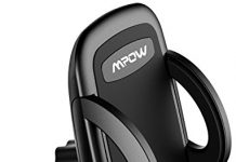 Mpow Car Phone Mount, Air Vent Phone Holder for Car with Adjustable Car Phone Holder Cradle Compatible iPhone XS/XS MAX/XR/X/8/8Plus/7/7Plus/6s, Galaxy S7/S8/S9, Google Nexus, Huawei and More, Black