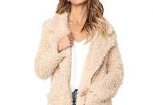 Faux Shearling Hoodie Coat,Women's Casual Jacket Winter Warm Parka Outwear Overcoat by-NEWONESUN