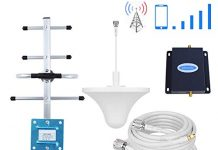 Phonelex Cell Phone Signal Booster Verizon 4G LTE Band13 700Mhz Mobile Phone Signal Booster Verizon Cell Phone Signal Amplifier Repeater with Indoor Ceiling/OutdoorYagi Antenna Kits for Home Office