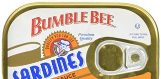 BUMBLE BEE Sardines in Hot Sauce, Wild Caught, High Protein Food, Keto Food and Snacks, Gluten Free Food, High Protein Snacks, Canned Food, Bulk Sardines, 3.75 Ounce Cans (Pack of 18)