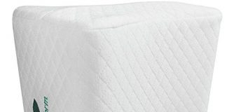 Knee Pillow for Side Sleepers - Sciatic Nerve Pain Relief Pillow - Best for Pregnancy, Hip, Leg, Knee, Back and Spine Alignment - Memory Foam Orthopedic Leg Pillow Wedge with Washable Cover + Free Bag