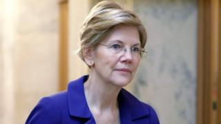 US Senator Warren arrives for procedural vote on Kavanaugh nomination on Capitol Hill in Washington, 5 October 2018