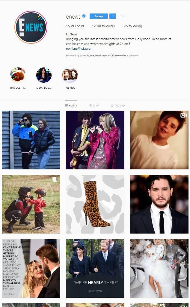 E! News Instagram screengrab