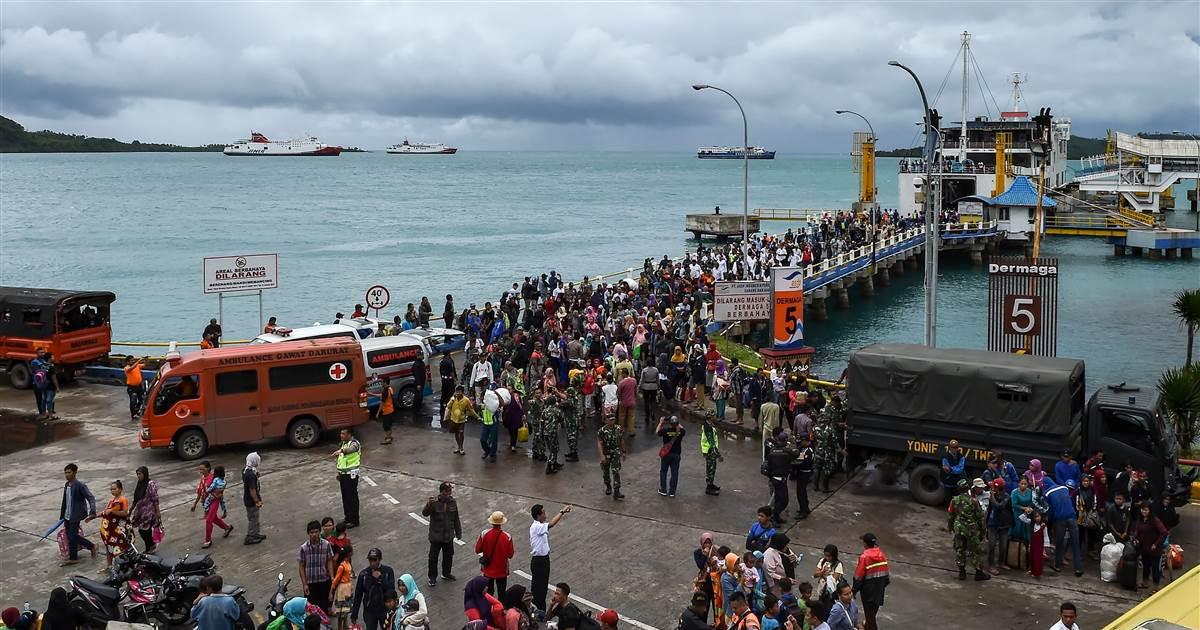Indonesia Asks People To Avoid Tsunami Hit Coast Near