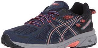 ASICS Women's Gel-Venture 6 Running-Shoes,Indigo Blue/Black/Coral,7 Medium US