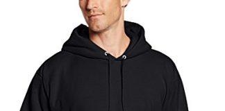 Hanes Men's Pullover EcoSmart Fleece Hoodie, Black, Small