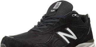 New Balance Men's M990BK4 Running Shoe, Black/Silver, 10 2E US
