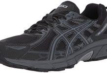 ASICS Mens Gel-Venture 6 Running Shoe, Black/Phantom/Mid Grey, 11 Medium US