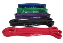 WODFitters Assisted Pull-up Resistance Band (ENTIRE SET of 5 different resistance levels) for Cross Training, Gymnastics and Power-lifting (Set of All 5 Bands)