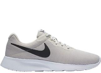 NIKE Men's Tanjun Running Sneaker Light Bone/Black-White 10.5