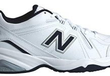 New Balance Men's MX608v4 Training Shoe, White/Navy, 11 4E US